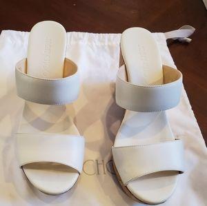 Jimmy Choo Parker Wedge Slide Sandals